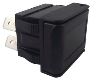 ARCOLECTRIC C1350AHAAA  Switch, Rocker, Dpst, W/ Cover, Black